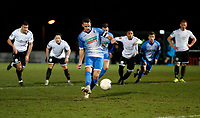 John Rooney scores a penalty for Barrow during Dover Athletic vs Barrow, Vanarama National League Football at the Crabble Athletic Ground on 4th February 2020