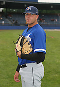 July 14th, 2007:  Ryan Stadanlick of the Aberdeen Ironbirds, Class-A Short-Season affiliate of the Baltimore Orioles, poses for a photo before a game vs the Jamestown Jammers in New York-Penn League action.  Photo Copyright Mike Janes Photography 2007.