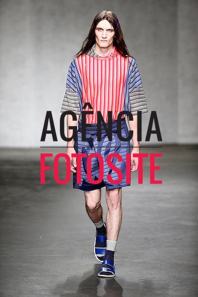 Londres, Inglaterra &ndash; 06/2014 - Desfile de James Long durante a Semana de moda masculina de Londres - Verao 2015. <br /> Foto: FOTOSITE