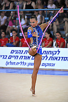Daria Dmitrieva of Russia performs with rope during event finals at 2010 Holon Grand Prix at Holon, Israel on September 4, 2010.  (Photo by Tom Theobald).