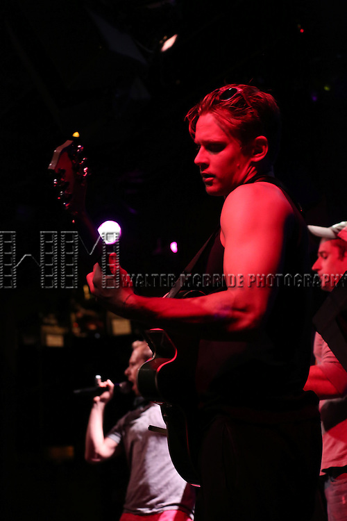 Billy Magnussen from Reserved For Rondee in rehearsal for 'The Lord & The Master - Broadwayworld.com sings Andrew Lloyd Webber & Stephen Sondheim'  at Joe's Pub on June 16, 2014 in New York City.