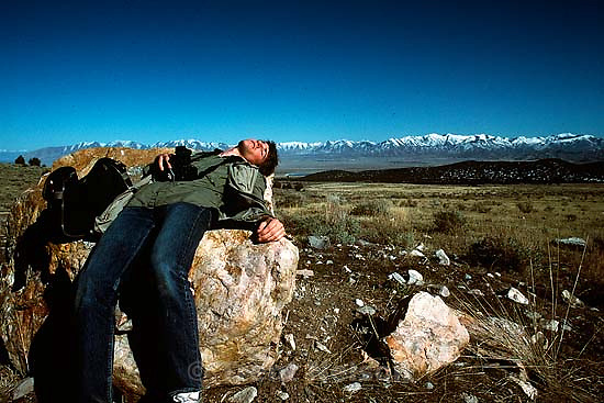 Trent Nelson self-portrait while out on a photo drive past Tooele &amp; Grantsville, march 1988.   &amp;#xA;<br />