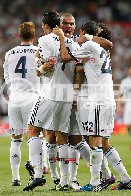 Real Madrid's Cristiano Ronaldo goal during Spanish Supercup 2nd match on august 29 2012...Photo: Alex Cid-Fuentes / ALFAQUI /NortePhoto.com<br />