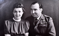 BNPS.co.uk (01202 558833)<br />Pic: C&T/BNPS<br /><br />Flt Lt Antoni Lipkowski's parents Walery and Helena.<br /> <br /> A fascinating photo album has sold for £1200 at auction - the previously unseen photographs chart the wartime career of Polish aristocrat Antoni Lipkowski -revealing how the emigree from Nazi Europe became a fighter pilot in the RAF.<br /> <br /> Flight Lieutenant Antoni Lipkowski escaped Poland when Germany invaded in 1939 and was desperate to join in the fight against the Nazis.<br /> <br /> Previously a cavalry officer, he retrained as a pilot and joined one of the Polish squadrons based in Britain which did such sterling work defending these skies in World War Two.<br /> <br /> Flt Lt Lipkowski, of 316 Polish Fighter Squadron, was very tall for a pilot and turned heads with his 'handsome' appearance.<br /> <br /> There are images of him in the cockpit of his Spitfire and posing nonchalantly in front of it with a cigarette in his hand.