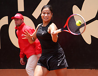 BOGOTÁ -COLOMBIA, 9-04-2018:María Herazo Gonzalez de Colombia derrotó a la Checoslovaca Teresa Martincova ,durante el Claro Open Colsánitas que se juega en El Club Los Lagartos al norte de la Capital ./ María Herazo of Colombia won the Czechoslovak Teresa Martincova, during the Claro Open Colsánitas that is played at El Club Los Lagartos north of the Capital. Photo: VizzorImage/ Felipe Caicedo / Staff