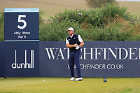 Graeme McDowell (NIR) on the 5th tee during Round 2 of the Alfred Dunhill Links Championship 2019 at Kingbarns Golf CLub, Fife, Scotland. 27/09/2019.<br /> Picture Thos Caffrey / Golffile.ie<br /> <br /> All photo usage must carry mandatory copyright credit (© Golffile | Thos Caffrey)