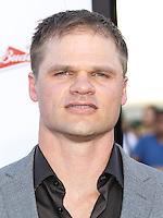 """WESTWOOD, LOS ANGELES, CA, USA - MAY 15: Evan Jones at the Los Angeles Premiere Of Universal Pictures And MRC's """"A Million Ways To Die In The West"""" held at the Regency Village Theatre on May 15, 2014 in Westwood, Los Angeles, California, United States. (Photo by Xavier Collin/Celebrity Monitor)"""