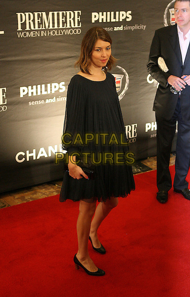 SOFIA COPPOLA.The 13th Annual Premiere Women in Hollywood - Arrivals held at the Beverly Hills Hotel, Beverly Hills, California, USA, 20 September 2006..full length black dress pleated navy blue sophia.Ref: ADM/ZL.www.capitalpictures.com.sales@capitalpictures.com.©Zach Lipp/AdMedia/Capital Pictures.