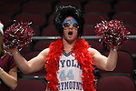 March 5, 2015; Las Vegas, NV, USA; Loyola Marymount Lions fan cheers against the Pepperdine Waves before the game of the WCC Basketball Championships at Orleans Arena.