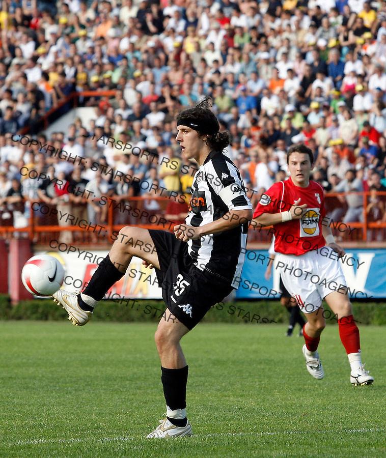 Fudbal, Meridijan liga, season 2007/08.Napredak Vs. Partizan.Stevan Jovetic, left.Krusevac, 25.05.2008.foto: Srdjan Stevanovic