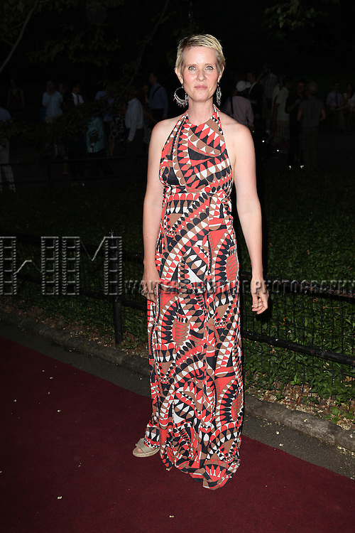 Cynthia Nixon attending the Opening Night Performance of The Public Theater's 'InTo The Woods' at the Delacorte Theater in New York City on 8/9/2012. © Walter McBride/WM Photography