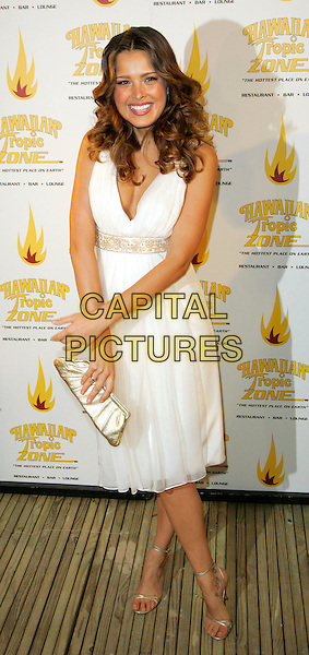 PETRA NEMCOVA.Opening Celebration for Hawaiian Tropic Zone, New York, NY, USA..September 21st, 2006.Ref: ADM/JL.full length white dress gold clutch purse.www.capitalpictures.com.sales@capitalpictures.com.©Jackson Lee/AdMedia/Capital Pictures.
