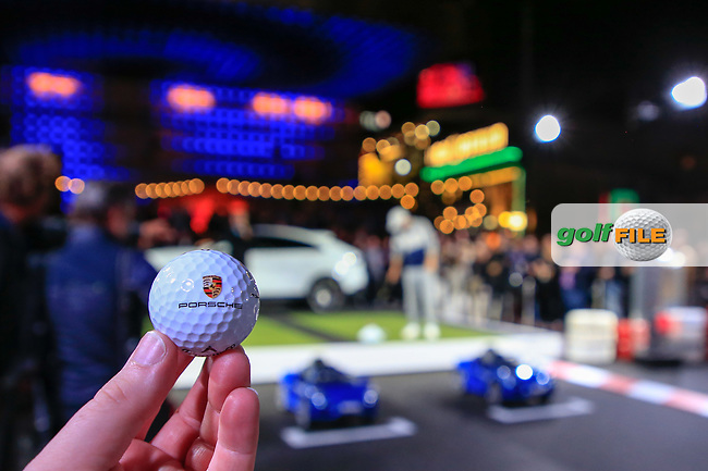Porsche Urban Golf Challenge in the Reeperbahn the famous Red light district in Hamburg ahead of the Porsche European Open at Green Eagles Golf Club, Luhdorf, Winsen, Germany. 03/09/2019.<br /> Picture Fran Caffrey / Golffile.ie<br /> <br /> All photo usage must carry mandatory copyright credit (© Golffile | Fran Caffrey)