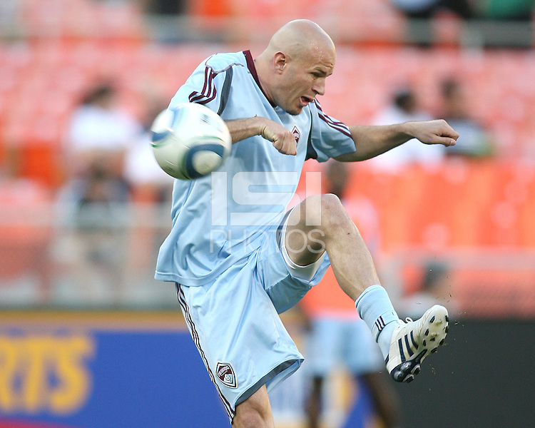 Conor Casey #9 of the Colorado Rapids during an MLS match against D.C. United on May 15 2010, at RFK Stadium in Washington D.C. Colorado won 1-0.