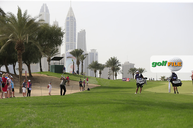 Andy Sullivan (ENG) walking down the 8th during Round 2 of the Omega Dubai Desert Classic, Emirates Golf Club, Dubai,  United Arab Emirates. 25/01/2019<br /> Picture: Golffile | Thos Caffrey<br /> <br /> <br /> All photo usage must carry mandatory copyright credit (&copy; Golffile | Thos Caffrey)