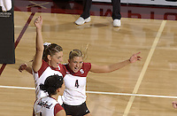 24 September 2005: Bryn Kehoe during Stanford's 30-22, 31-29, 30-26 win against UCLA Bruins at Maples Pavilion in Stanford, CA.