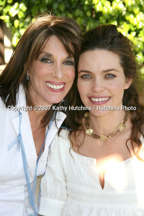 Kate Linder & Amelia Heinle.Amelia Heinle Luckinbill Baby Shower.Home of Melody Thomas Scott.Los Angeles,   CA.October 8, 2007.©2007 Kathy Hutchins / Hutchins Photo...               .