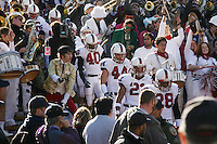 2 December 2006: Kris Evans, Pat Maynor, Thaddeus Chase and Peter Griffin during Stanford's 26-17 loss to Cal in the 109th Big Game at Memorial Stadium in Berkeley, CA.
