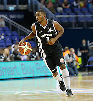 Daniel Lewis  in action during Hoops Aid 2015 Celebrity AllStars Basketball Match at the o2 Arena, London, England on 10 May 2015. Photo by Andy Rowland.