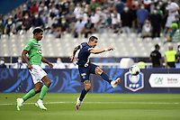 24th July 2020, Stade de France, Paris, France; French football Cup Final, Paris Saint Germain versus  St Ertienne;  11 ANGEL DI MARIA (PSG) with a shot that goes high