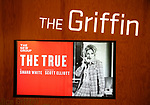 "Theatre Marquee for the New Group World Premiere of ""The True"" on September 20, 2018 at The Green Fig Urban Eatery in New York City."
