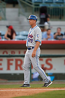St. Lucie Mets manager Chad Kreuter (29) during a game against the Florida Fire Frogs on April 19, 2018 at Osceola County Stadium in Kissimmee, Florida.  St. Lucie defeated Florida 3-2.  (Mike Janes/Four Seam Images)