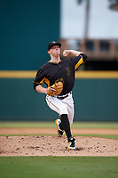 Bradenton Marauders starting pitcher Cam Vieaux (55) delivers a pitch during a game against the Jupiter Hammerheads on May 25, 2018 at LECOM Park in Bradenton, Florida.  Jupiter defeated Bradenton 3-2.  (Mike Janes/Four Seam Images)