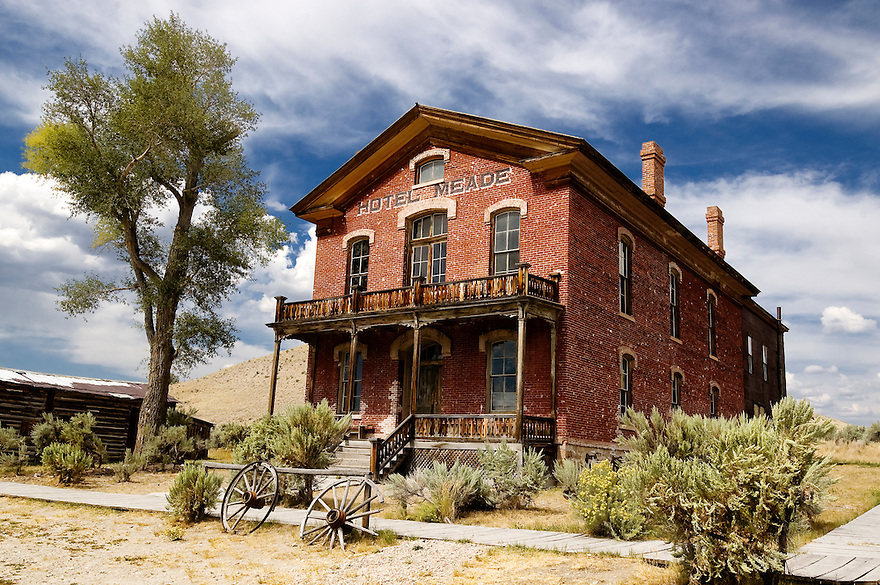 Hotel Meade in Bannack, Montana, was the center of activity during the town's boom as a gold mining camp in the 1860s.