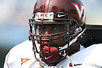 09 September 2006: Virginia Tech's Duane Brown. The University of North Carolina Tarheels lost 35-10 to the Virginia Tech Hokies at Kenan Stadium in Chapel Hill, North Carolina in an Atlantic Coast Conference NCAA Division I College Football game.