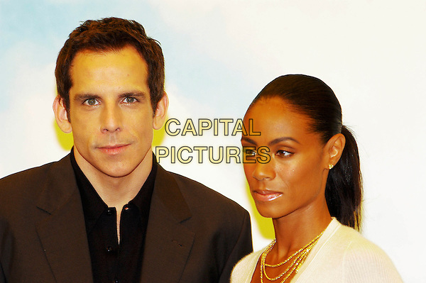"BEN STILLER & JADA PINKETT SMITH.Attend the cast photocall for ""Madagascar"",.Rome, Italy, June 15th 2005..portrait headshot.Ref: CAV.www.capitalpictures.com.sales@capitalpictures.com.©Luca Cavallari/Capital Pictures."