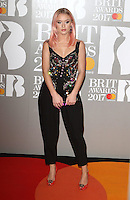 Zara Larssen at The BRIT Awards 2017 at The O2, Peninsula Square, London on February 22nd 2017<br /> CAP/ROS<br /> &copy; Steve Ross/Capital Pictures /MediaPunch ***NORTH AND SOUTH AMERICAS ONLY***
