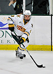 22 November 2011: University of Vermont Catamount forward Kyle Reynolds, a Freshman from Sylvan Lake, Alberta, in action against the University of Massachusetts Minutemen at Gutterson Fieldhouse in Burlington, Vermont. The Catamounts defeated the Minutemen 2-1 in their annual pre-Thanksgiving meeting of the Hockey East season. Mandatory Credit: Ed Wolfstein Photo
