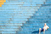 SAO CAETANO DO SUL, SP, 10.08.2013 - CAMP. BRASILEIRO - SAO CAETANO X SPORT - Torcedor do Sao Caetano em partida contra o Sport jogo pelo Campeonato Brasileiro serie B no Estádio Anacleto Campanella em São Caetano do Sul neste sabado, 10 (Foto: William Volcov / Brazil Photo Press)