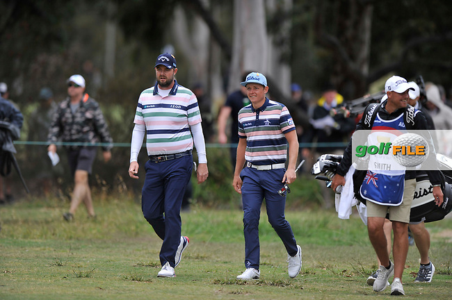 Marc Leishman (AUS) Cameron Smith (AUS) during the 3rd round of the World Cup of Golf, The Metropolitan Golf Club, The Metropolitan Golf Club, Victoria, Australia. 24/11/2018<br /> Picture: Golffile | Anthony Powter<br /> <br /> <br /> All photo usage must carry mandatory copyright credit (© Golffile | Anthony Powter)