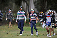 Marc Leishman (AUS) Cameron Smith (AUS) during the 3rd round of the World Cup of Golf, The Metropolitan Golf Club, The Metropolitan Golf Club, Victoria, Australia. 24/11/2018<br /> Picture: Golffile | Anthony Powter<br /> <br /> <br /> All photo usage must carry mandatory copyright credit (&copy; Golffile | Anthony Powter)
