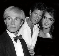 Andy Warhol Calvin Klein Brooke Shields at Studio 54 1981<br /> Photo By Adam Scull/PHOTOlink.net