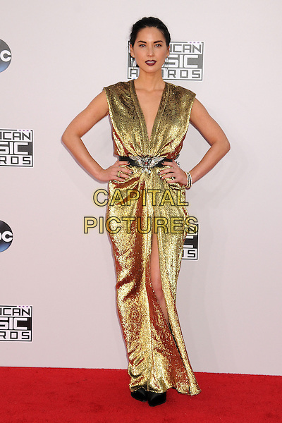 23 November 2014 - Los Angeles, California - Olivia Munn. American Music Awards 2014 - Arrivals held at Nokia Theatre LA Live. <br /> CAP/ADM/BP<br /> &copy;BP/ADM/Capital Pictures