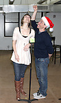 Jill Paice & Garth Kravits attending the Rehearsal for the Bucks County Playhouse production of 'It's a Wonderful Life - A Live Radio Play' at their rehearsal studios in New York City on December 5, 2012.