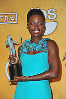Lupita Nyong'o at the 20th Annual Screen Actors Guild Awards at the Shrine Auditorium.<br /> January 18, 2014  Los Angeles, CA<br /> Picture: Paul Smith / Featureflash