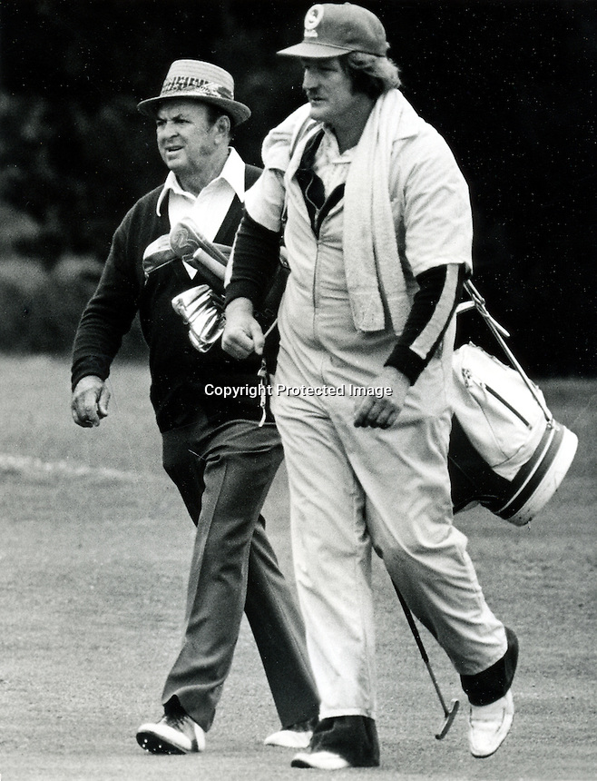 Sam Snead and caddy (photo/Ron Riesterer)