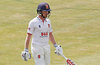Adam Wheater of Essex departs the field having been run out during Essex CCC vs Kent CCC, Bob Willis Trophy Cricket at The Cloudfm County Ground on 3rd August 2020