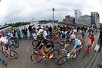 LIEGE, BELGIUM - JULY 2 : Illustration picture of the peloton during stage 2 of the 104th edition of the 2017 Tour de France cycling race, a  stage of 203 kms between Dusseldorf and Liege on July 02, 2017 in Liege, Belgium, 2/07/2017<br /> Ciclismo Tour De France 2017 <br /> Foto Photonews / Panoramic / Insidefoto <br /> ITALY ONLY