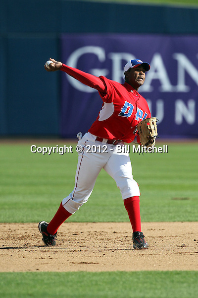 Nathanael Javier - Dominican Prospect League all-stars 2012 minor league spring training (Bill Mitchell)