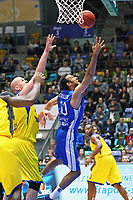 Philip Scrubb (Fraport Skyliners) setzt sich durch - 05.11.2017: Fraport Skyliners vs. EWE Baskets Oldenburg, Fraport Arena Frankfurt