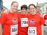 Jane Hoban, Leanne Thompson and Julie Boardman who ran in the Clogherhead 10k. Photo: Colin Bell/pressphotos.ie