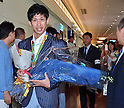 Japan table tennis team returns from Rio 2016