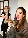 Three Women by Sylvia Plath,directed by Robert Shaw. With Elisabeth Dahl as The Wife,Tilly Fortune as The Secretary,Lara Lemon as The Student.Opens at The Jermyn Street Theatre on  6/1/09. CREDIT Geraint Lewis