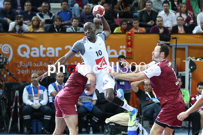 handball wordl cup match between Qatar vs France.Nyokas . 2015/02/1. Doha. Qatar. Alberto de Isidro. Photocall3000