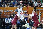 handball wordl cup match between Qatar vs France.Nyokas . 2015/02/1. Doha. Qatar. Alberto de Isidro. Photocall3000