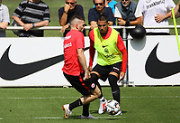 Ante Rebic (Eintracht Frankfurt), Carlos Salcedo (Eintracht Frankfurt) - 08.08.2018: Eintracht Frankfurt Training, Commerzbank Arena<br /> <br /> DISCLAIMER: <br /> DFL regulations prohibit any use of photographs as image sequences and/or quasi-video.